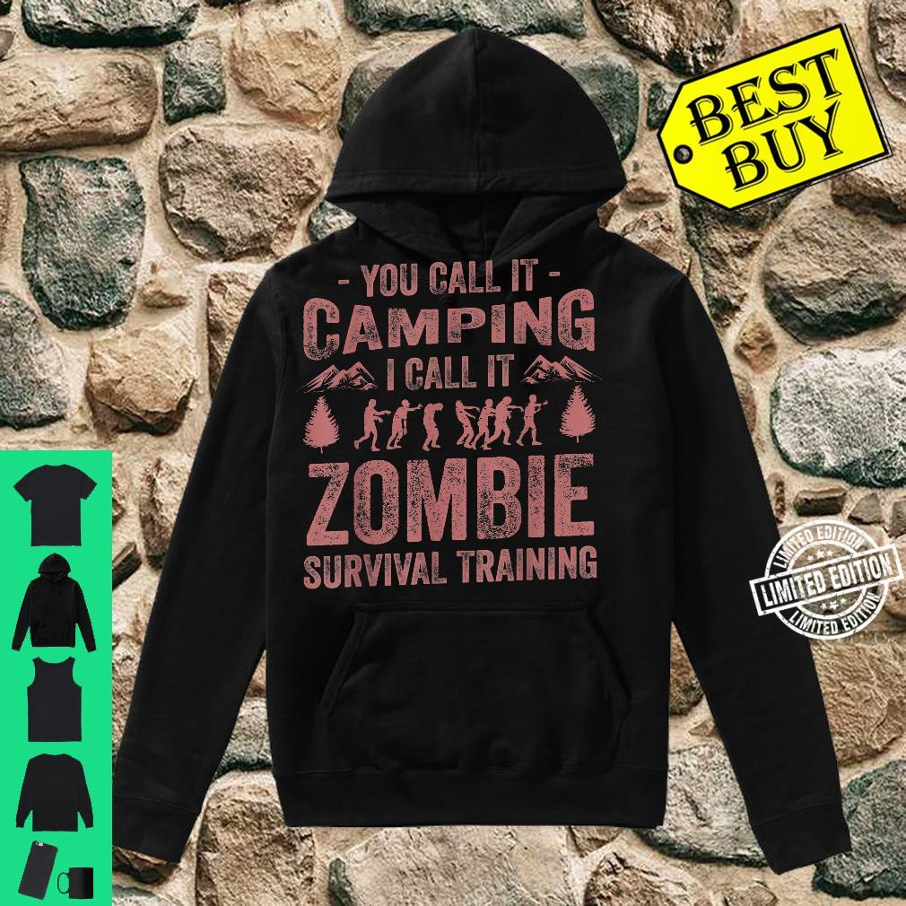 Funny Zombie Survival Camping Girls Cool Camp Shirt hoodie