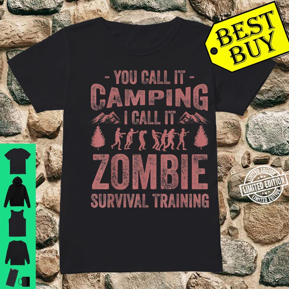 Funny Zombie Survival Camping Girls Cool Camp Shirt ladies tee