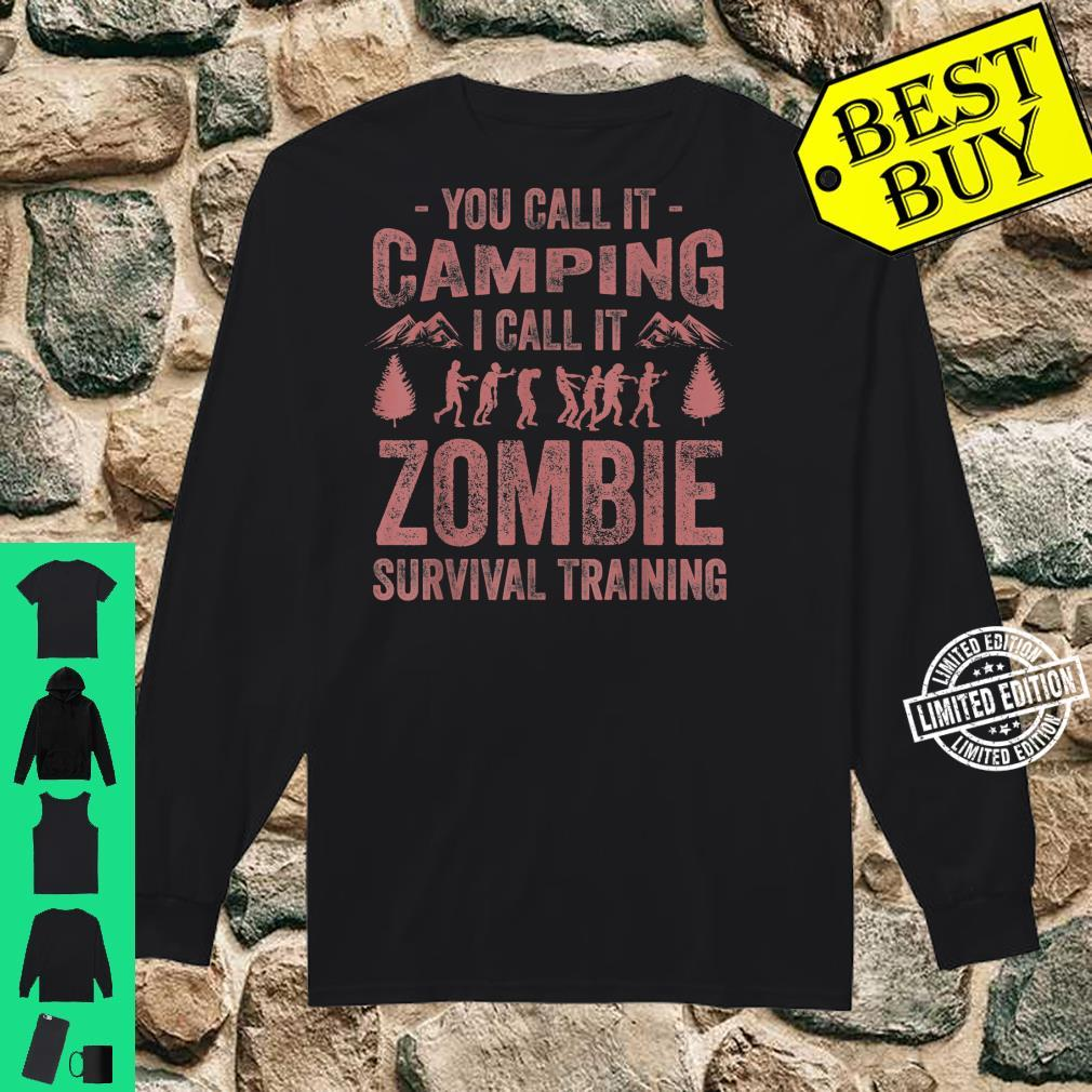Funny Zombie Survival Camping Girls Cool Camp Shirt long sleeved