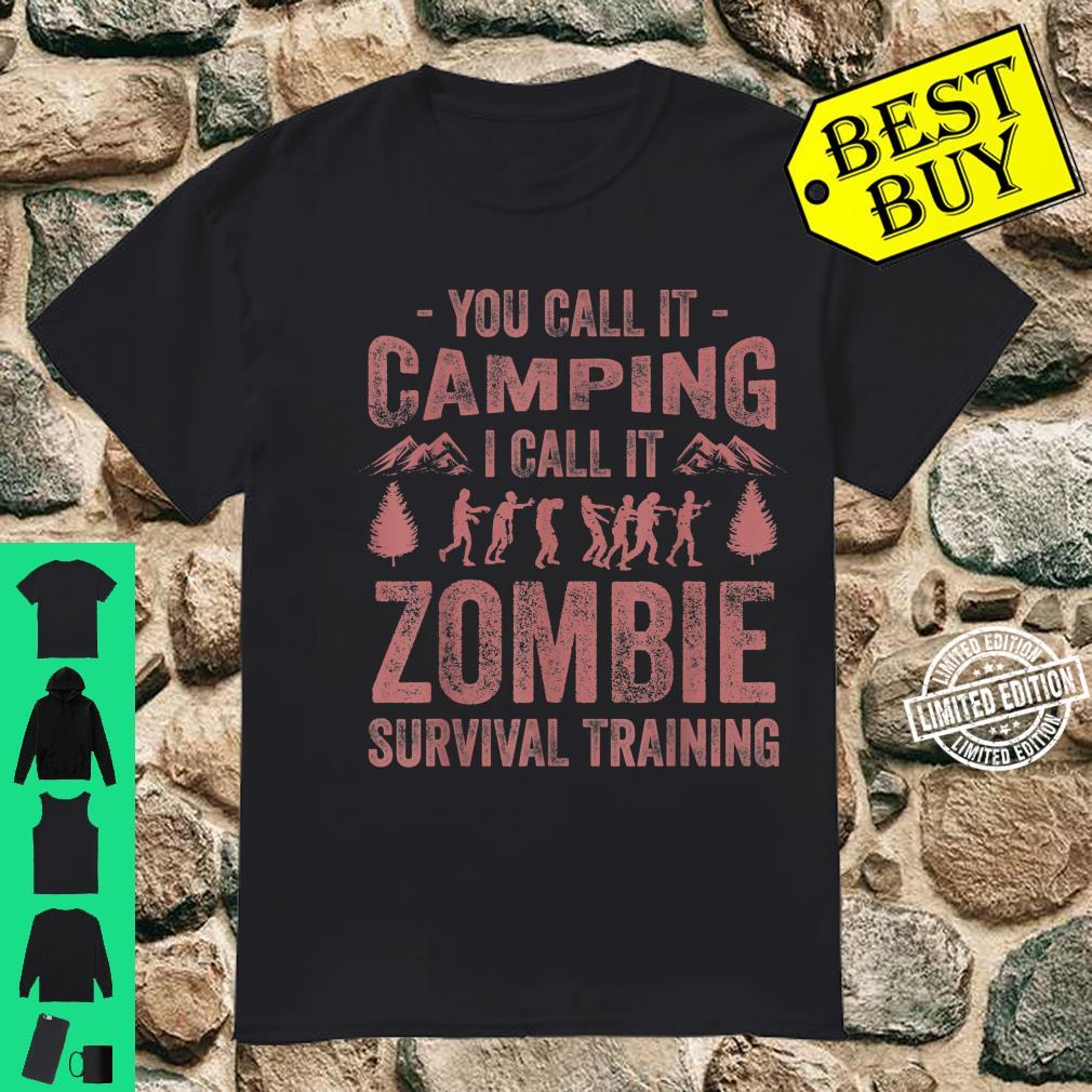 Funny Zombie Survival Camping Girls Cool Camp Shirt