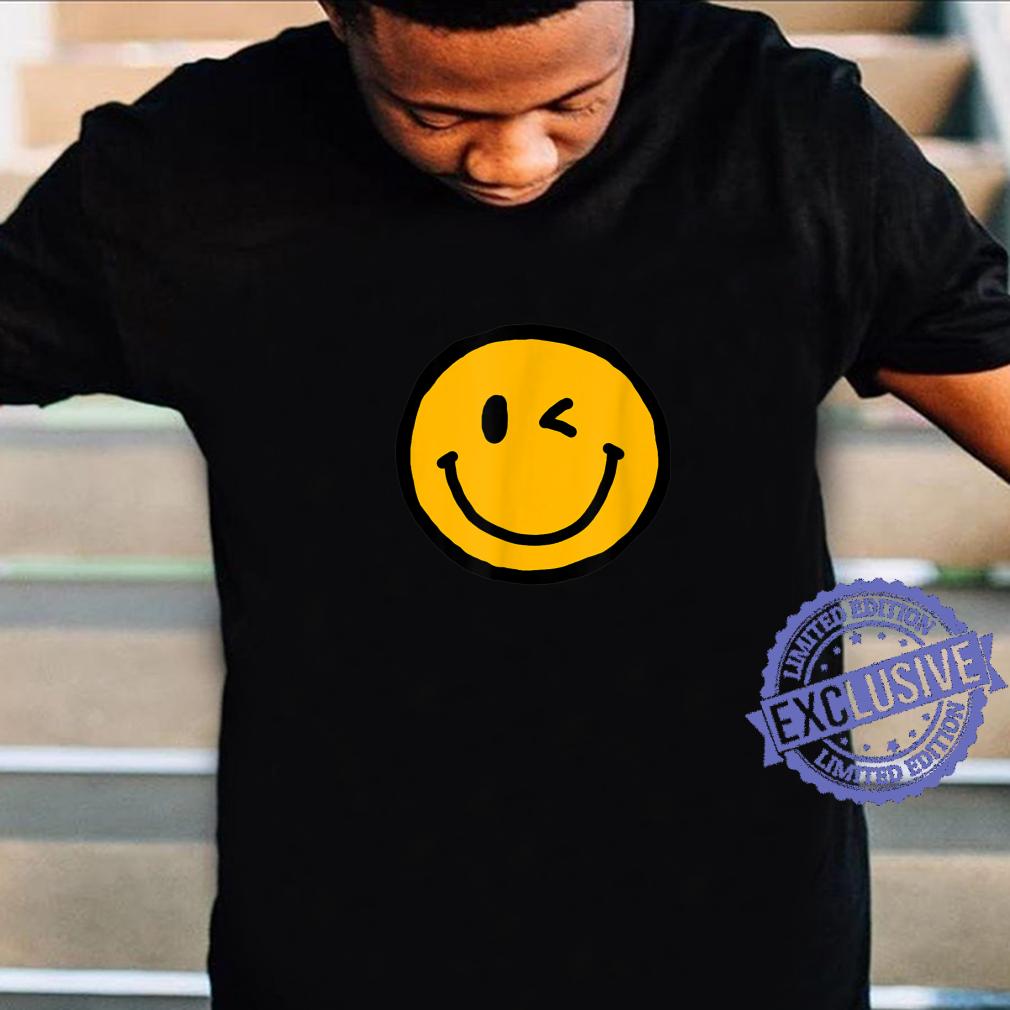 Retro Vibe Winking Smiley Face Happy Face Wink Shirt