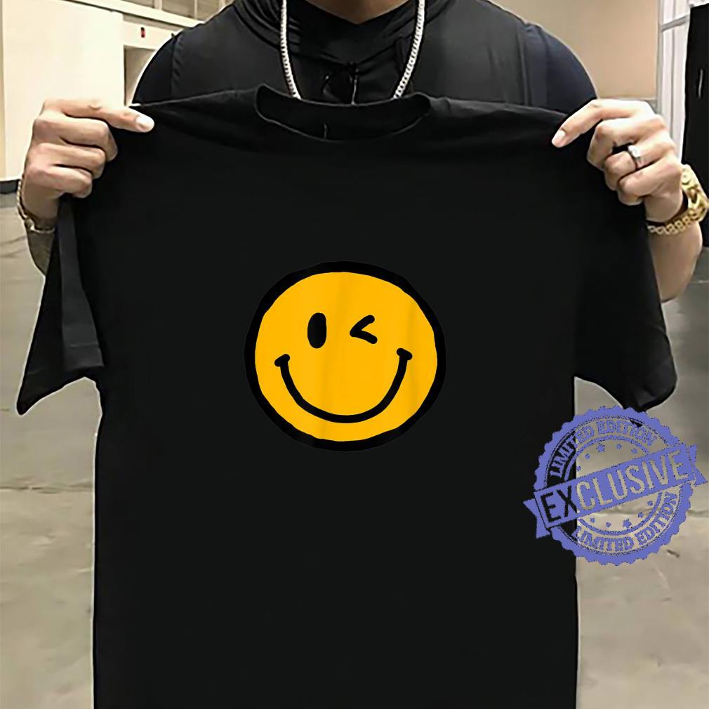 Retro Vibe Winking Smiley Face Happy Face Wink Shirt sweater