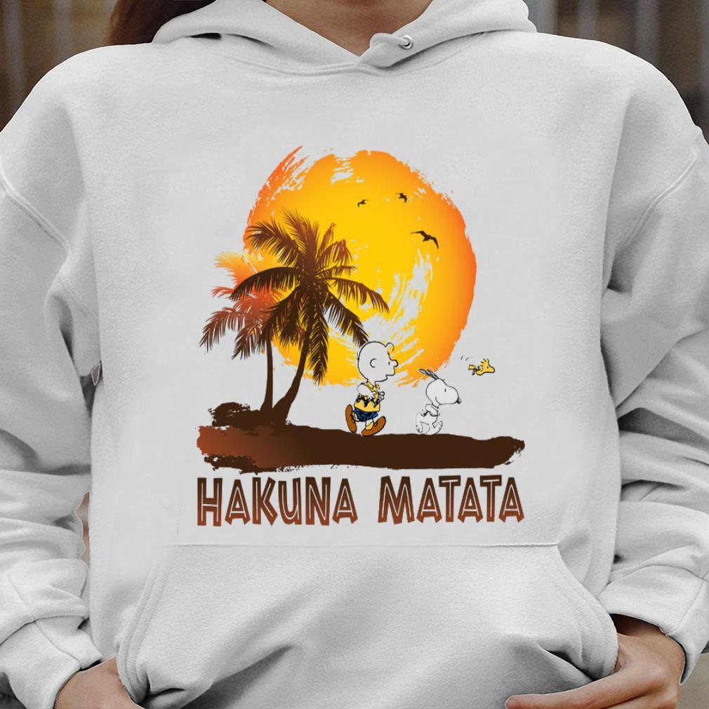 Snoopy and Charlie Brown Hakuna Matata shirt hoodie