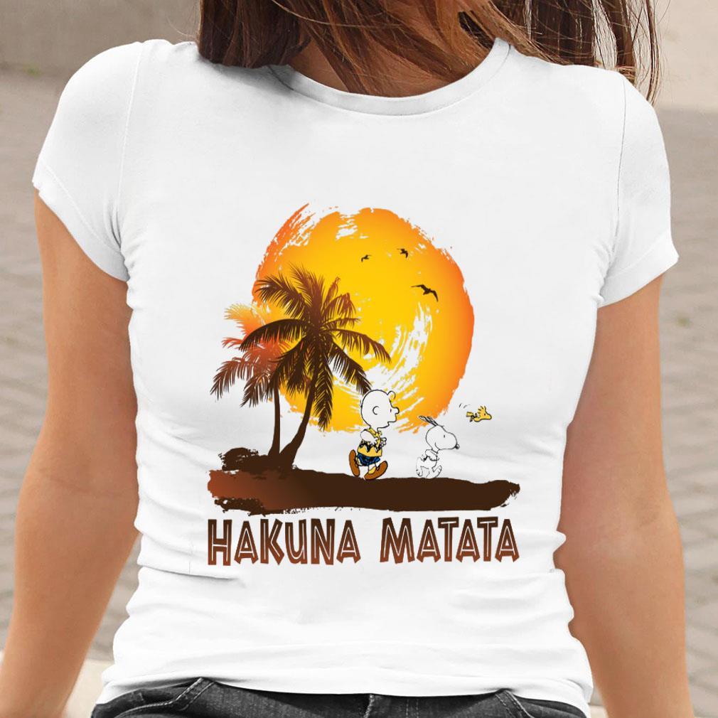 Snoopy and Charlie Brown Hakuna Matata shirt ladies tee