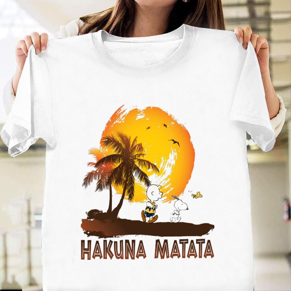 Snoopy and Charlie Brown Hakuna Matata shirt unisex