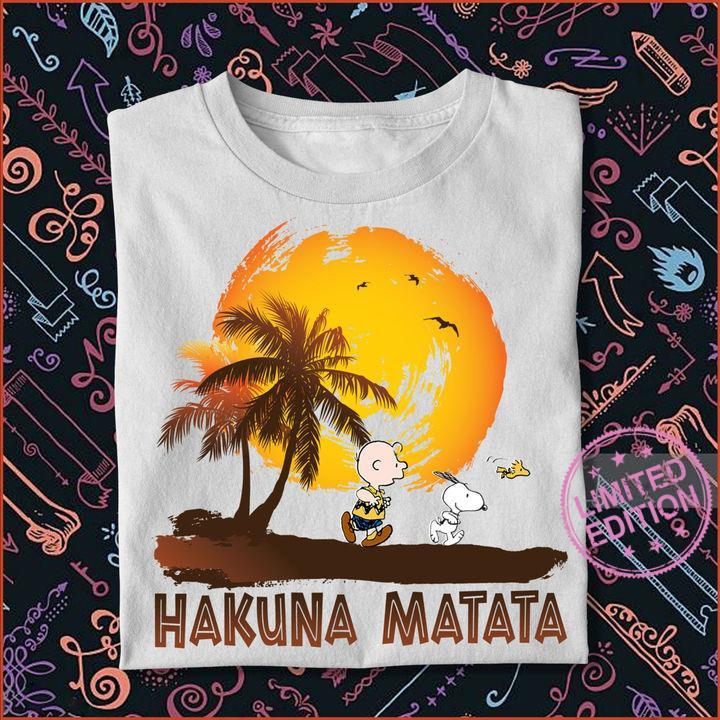 Snoopy and Charlie Brown Hakuna Matata shirt