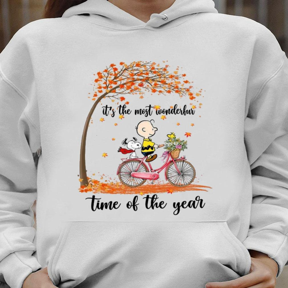 Snoopy and Charlie Brown It's the most wonderful time of the year shirt hoodie