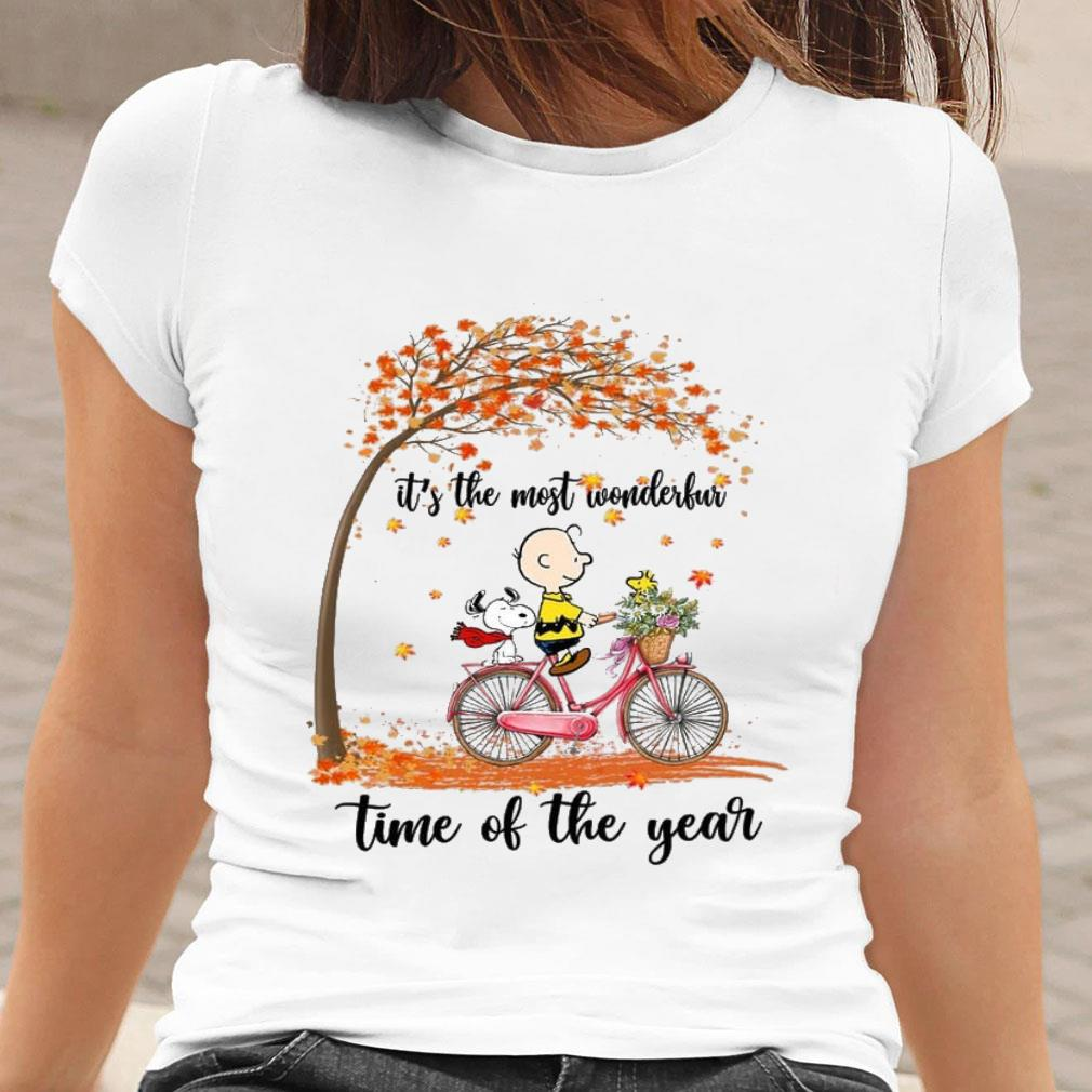 Snoopy and Charlie Brown It's the most wonderful time of the year shirt ladies tee