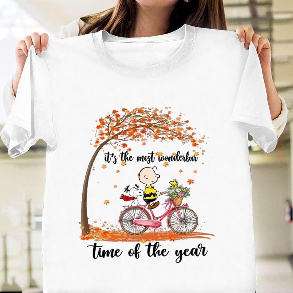 Snoopy and Charlie Brown It's the most wonderful time of the year shirt unisex