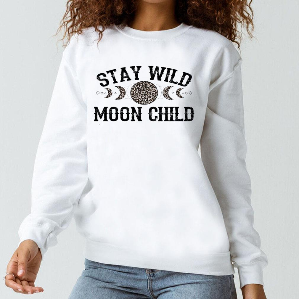 Stay wild moon child leopard shirt long sleeved