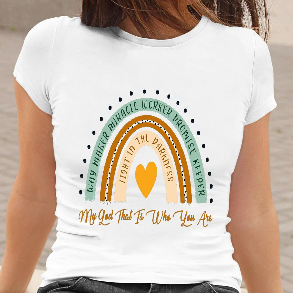 Way maker miracle worker promise keeper light in the darkness shirt ladies tee