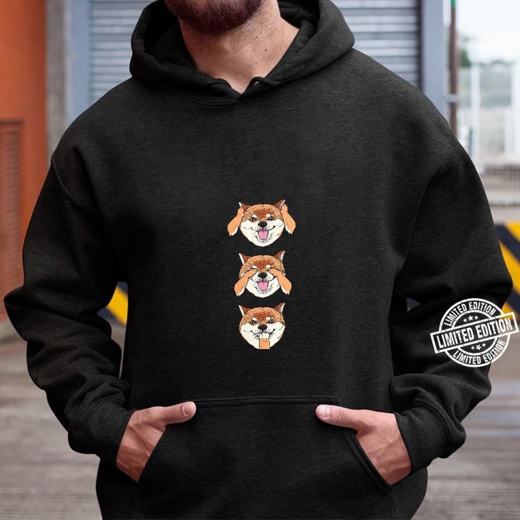 Womens No Evil Shiba Inu Shirt hoodie