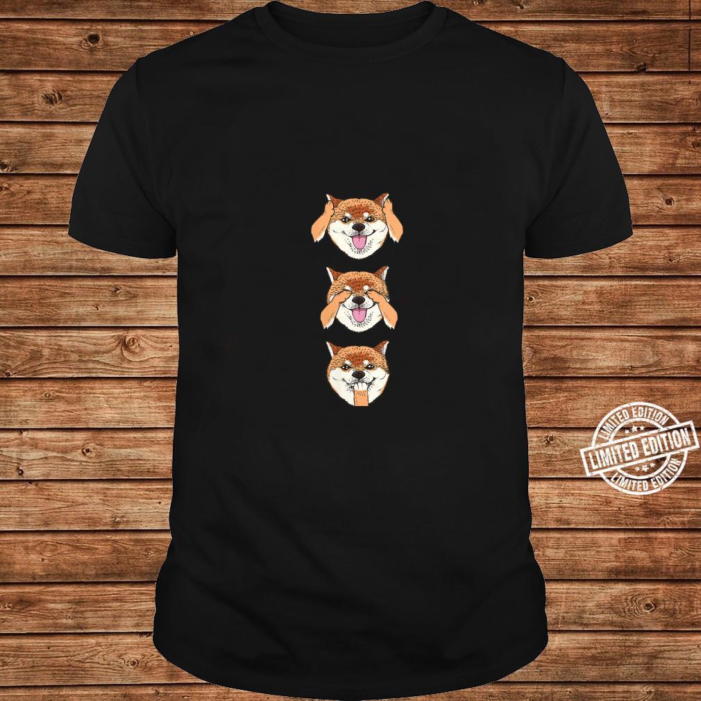 Womens No Evil Shiba Inu Shirt long sleeved