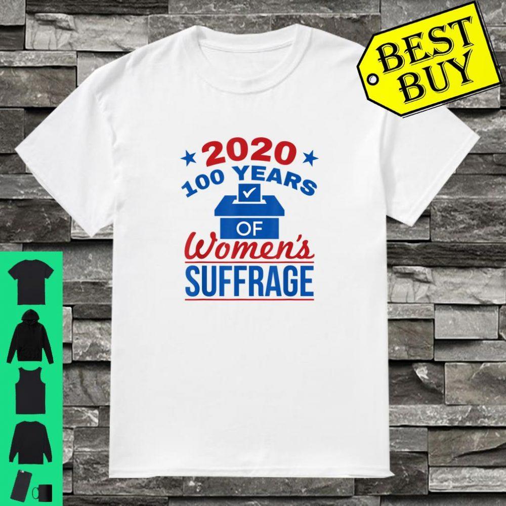 19th Amendment 100 Years 2020 Equality Equal Rights Shirt