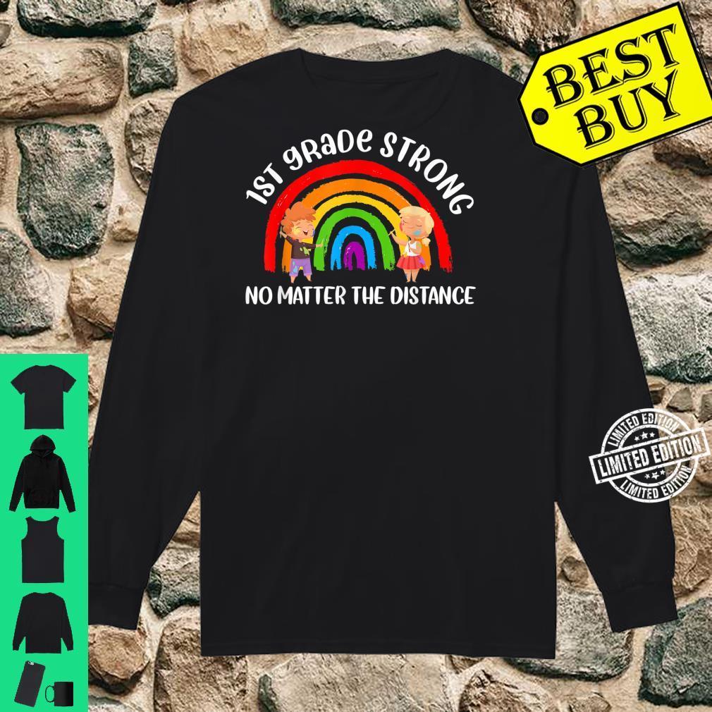 1st Grade Strong No Matter Rainbow The Distance School Shirt long sleeved