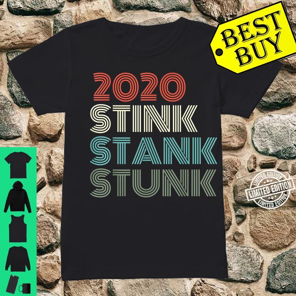 2020 Stink Stank Stunk Reto Vintage Family Christmas Pajamas Shirt ladies tee