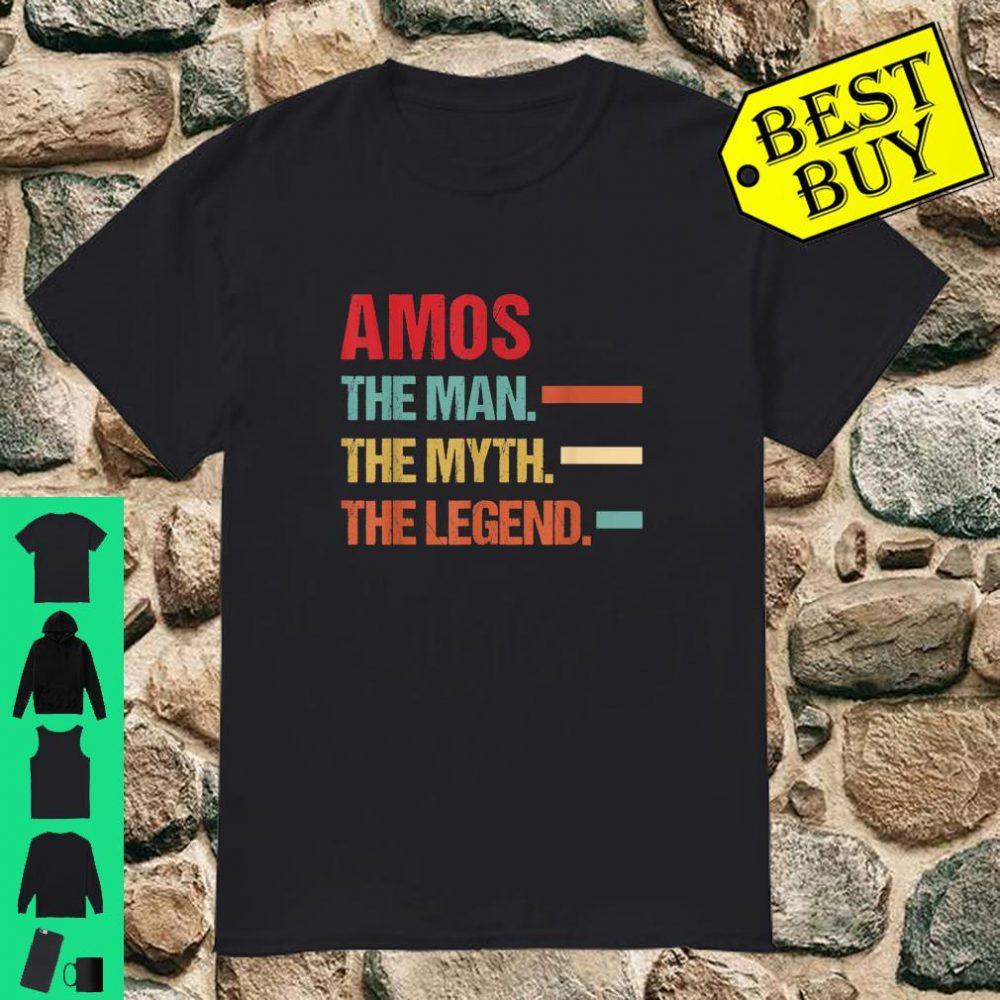 AMOS The Man Myth Legend Vintage First Name shirt
