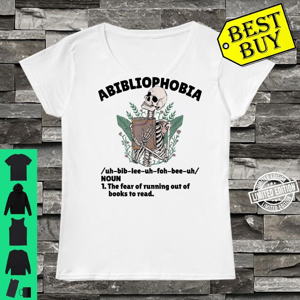 Abibliophobia Defintion Book and Bookworm Shirt ladies tee