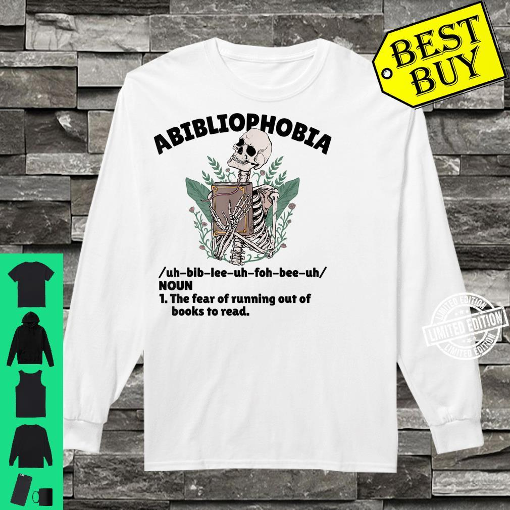 Abibliophobia Defintion Book and Bookworm Shirt long sleeved