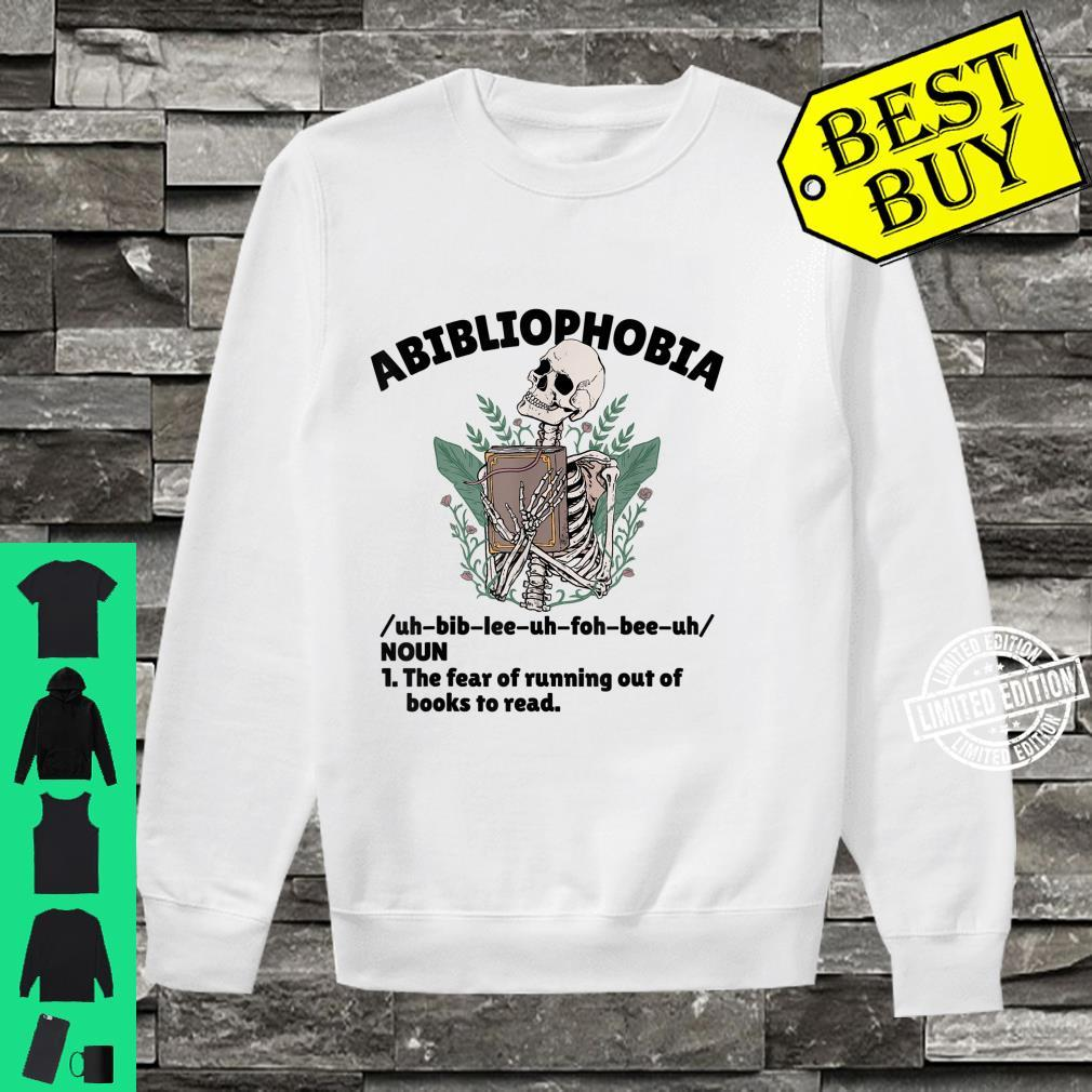 Abibliophobia Defintion Book and Bookworm Shirt sweater