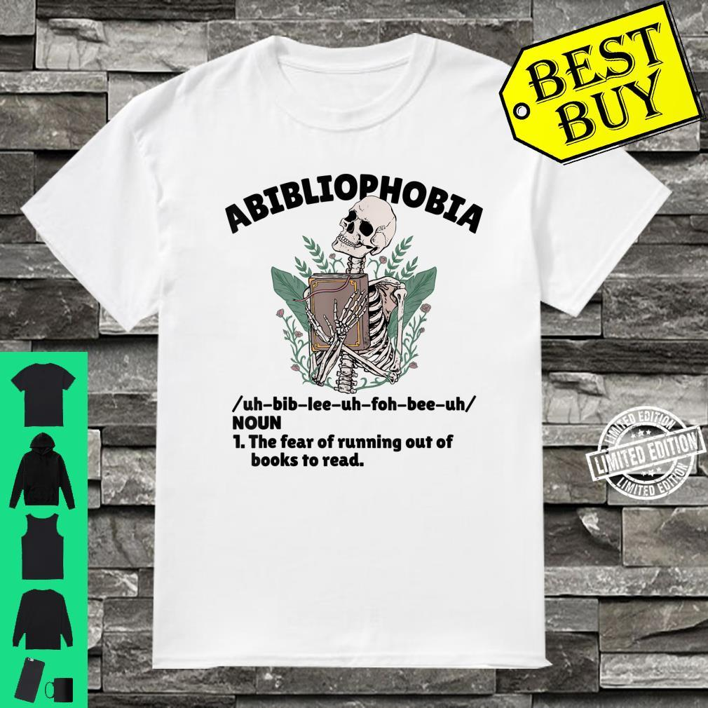Abibliophobia Defintion Book and Bookworm Shirt