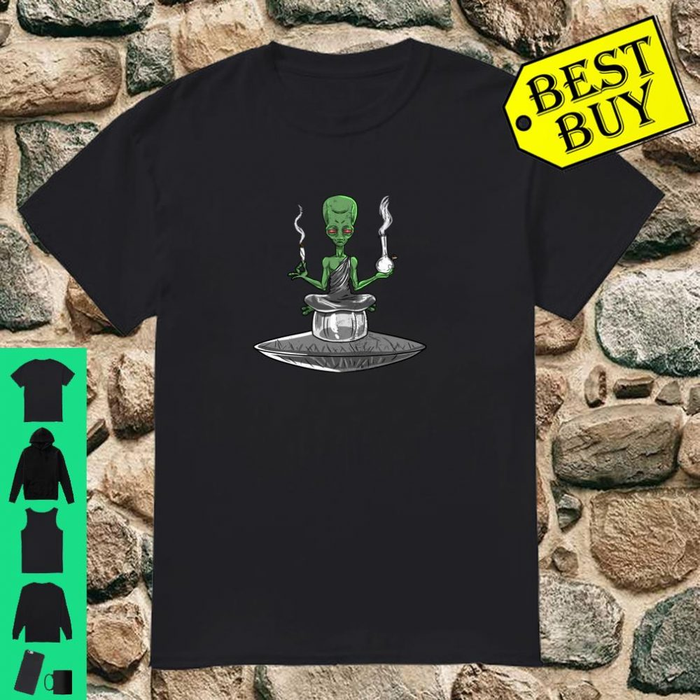 Alien Bong Smoking Weed Stoner ET Cannabis 420 shirt
