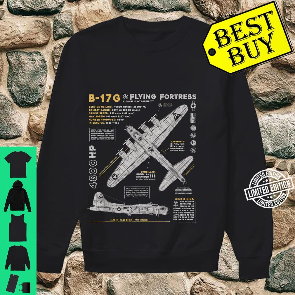 B17 Flying Fortress WW2 B17G Bomber Vintage Aviation Shirt sweater