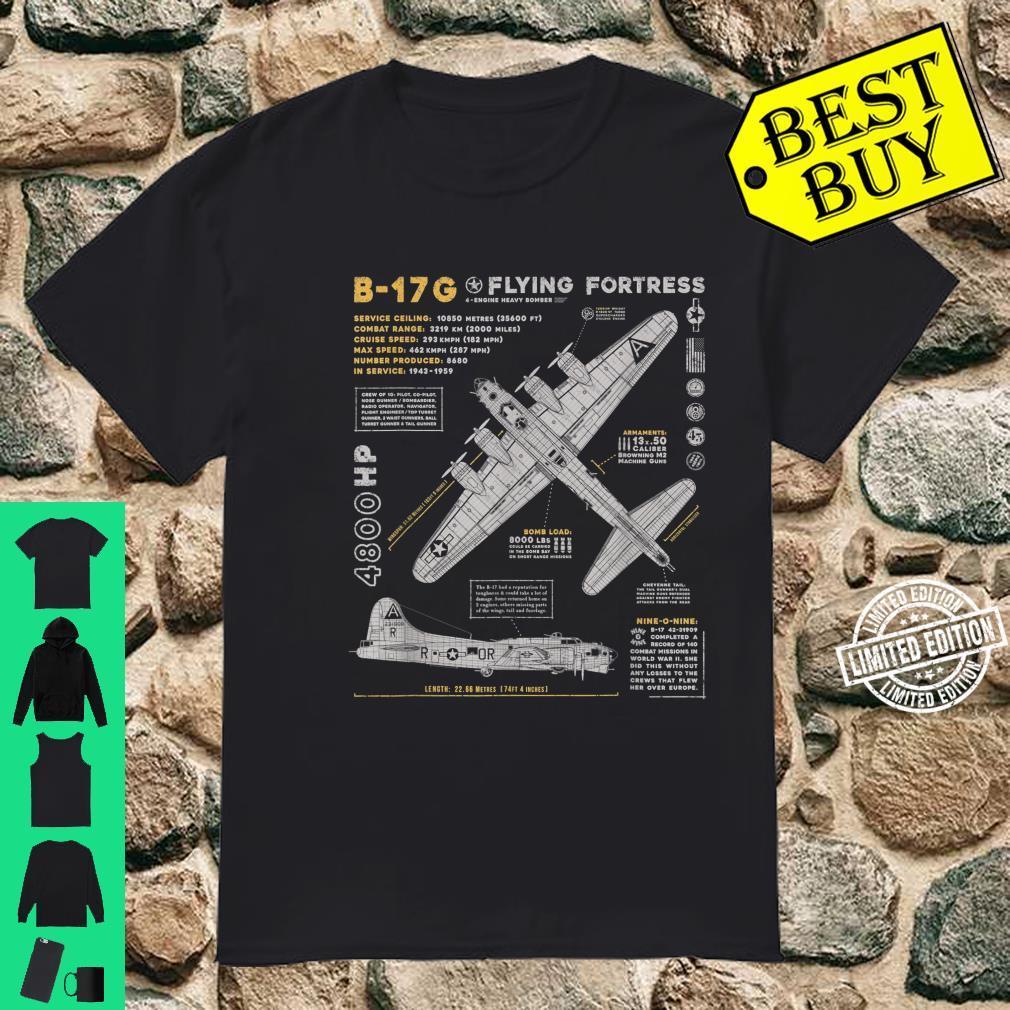 B17 Flying Fortress WW2 B17G Bomber Vintage Aviation Shirt