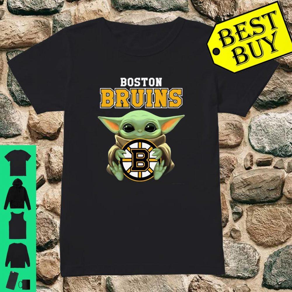Baby Yoda Hug Boston Bruins shirt ladies tee