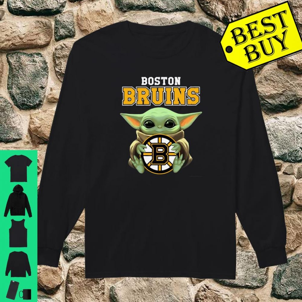 Baby Yoda Hug Boston Bruins shirt long sleeved