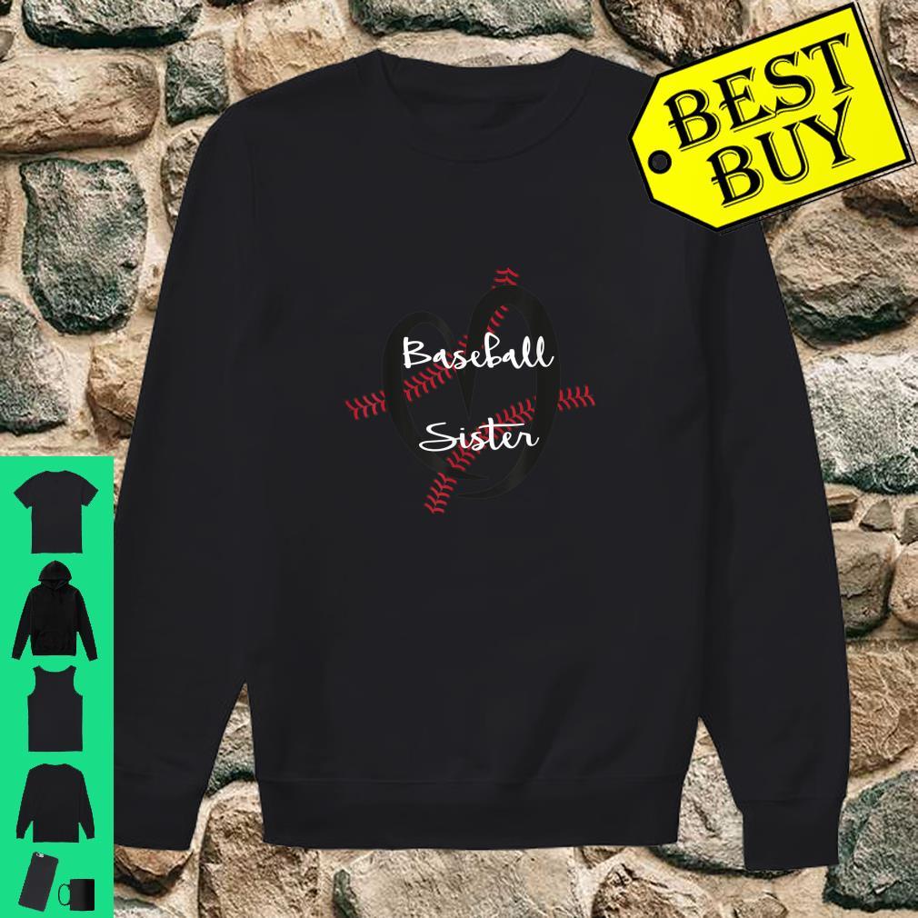 Little Sister Biggest Fan Baseball Shirt Youth Little Sister Baseball Long Sleeve Hooded Tee