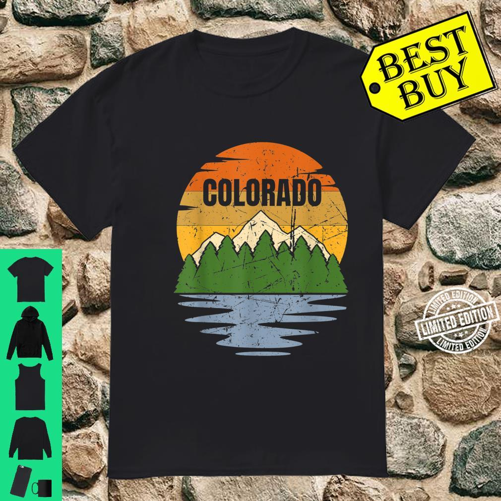 Best Colorado Mountains Lake Nature Hiking Vintage Retro Shirt