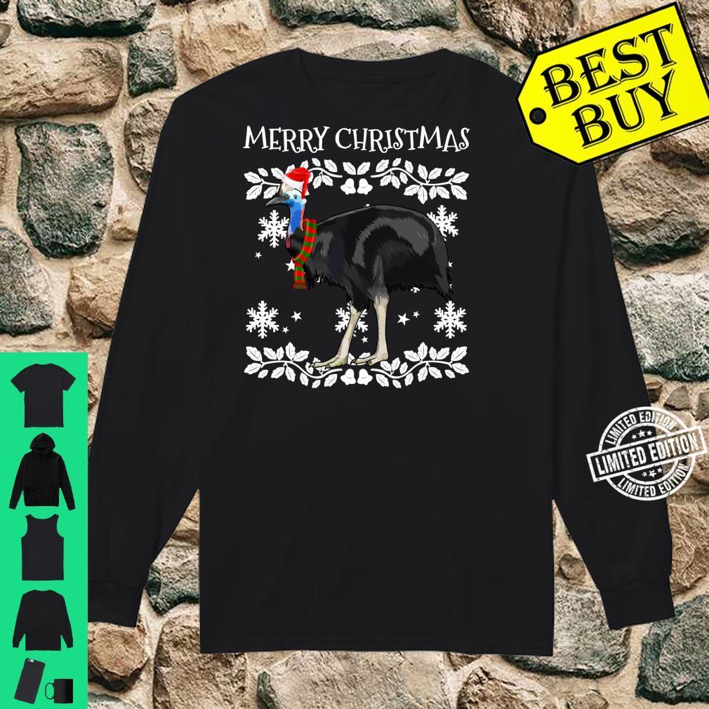 Bird Merry Christmas Ornament Cassowary Ugly Xmas Shirt long sleeved