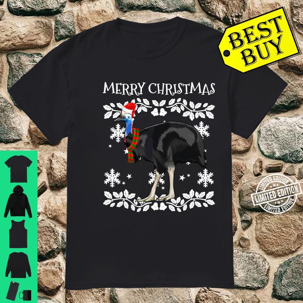 Bird Merry Christmas Ornament Cassowary Ugly Xmas Shirt