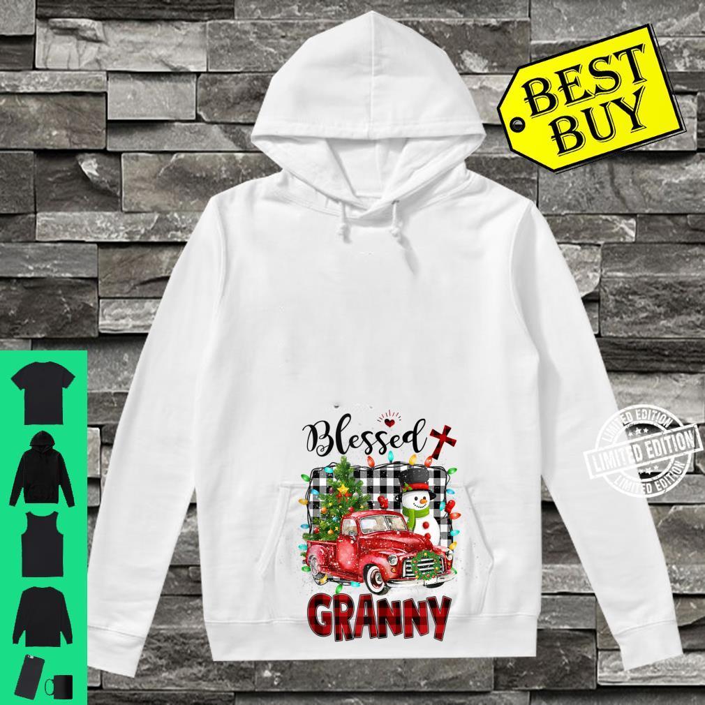 Blessed Granny Christmas Snowman Grandma Shirt hoodie