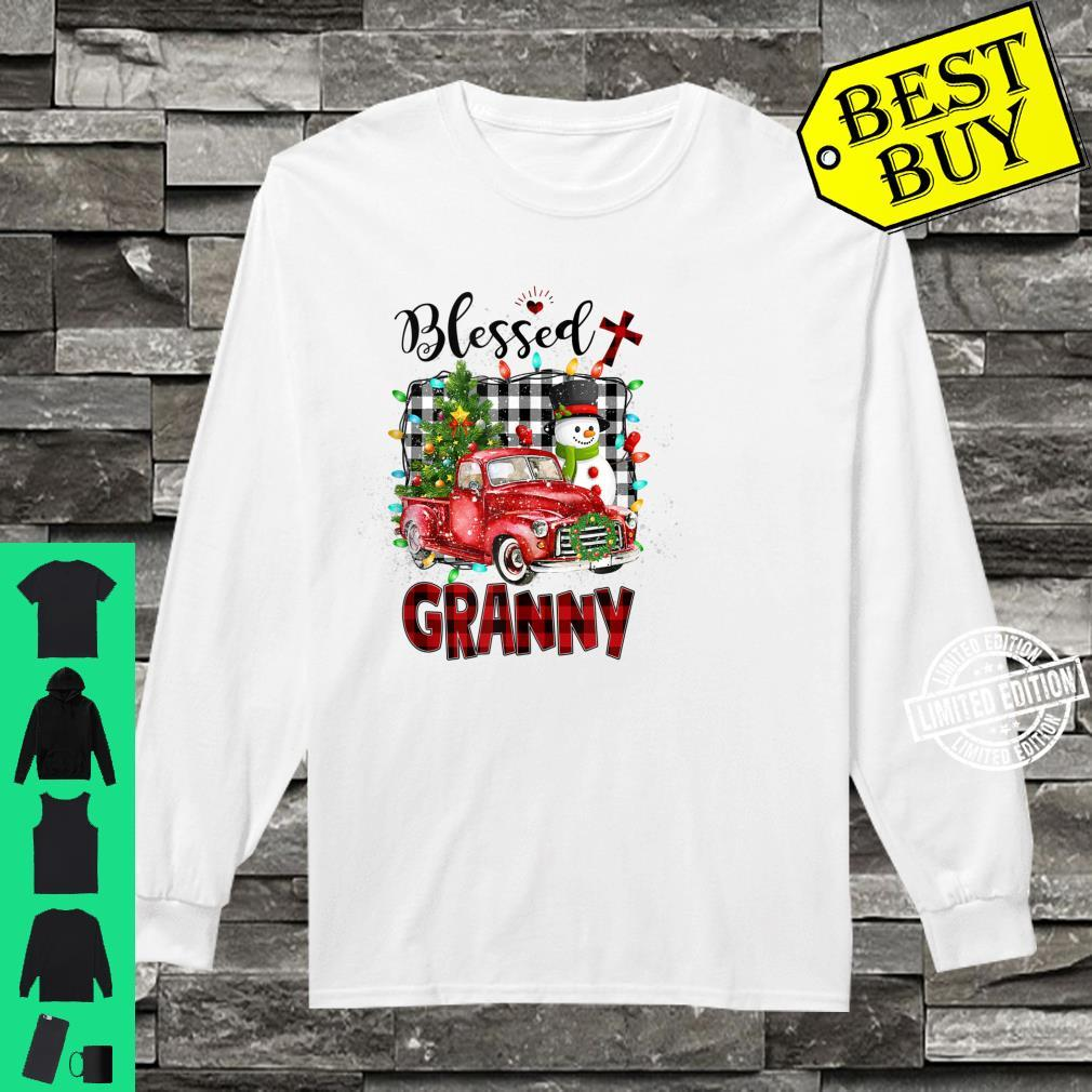 Blessed Granny Christmas Snowman Grandma Shirt long sleeved