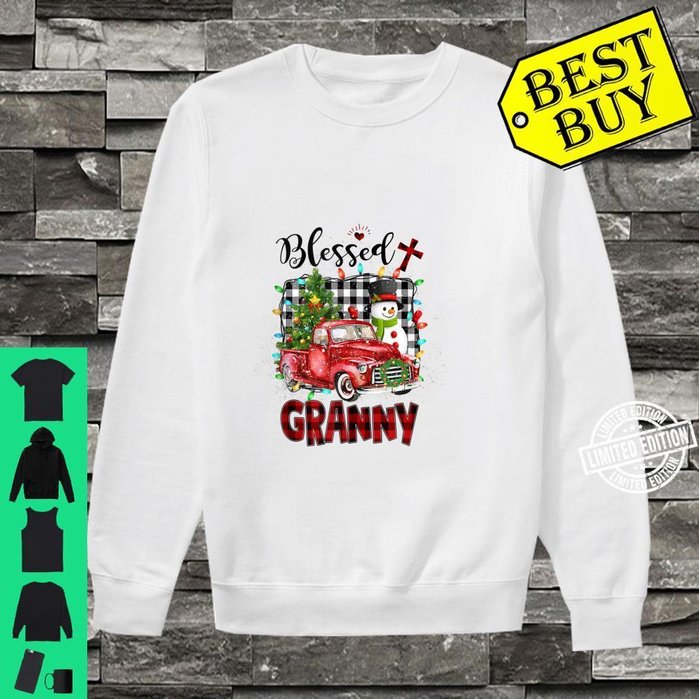 Blessed Granny Christmas Snowman Grandma Shirt sweater