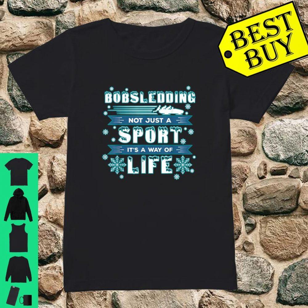 Bobsledding Winter Sports - Skeleton Bobsledder shirt ladies tee