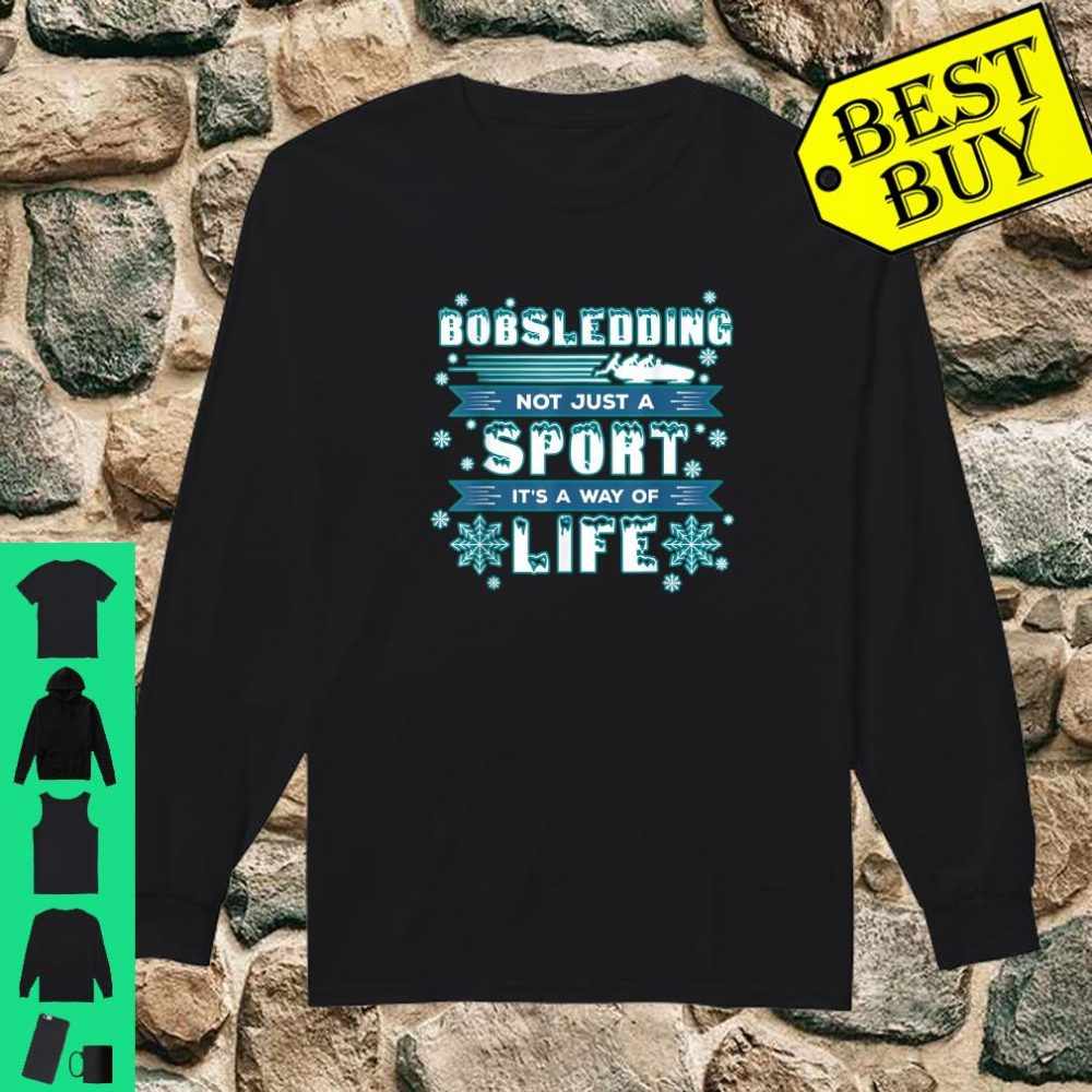 Bobsledding Winter Sports - Skeleton Bobsledder shirt long sleeved