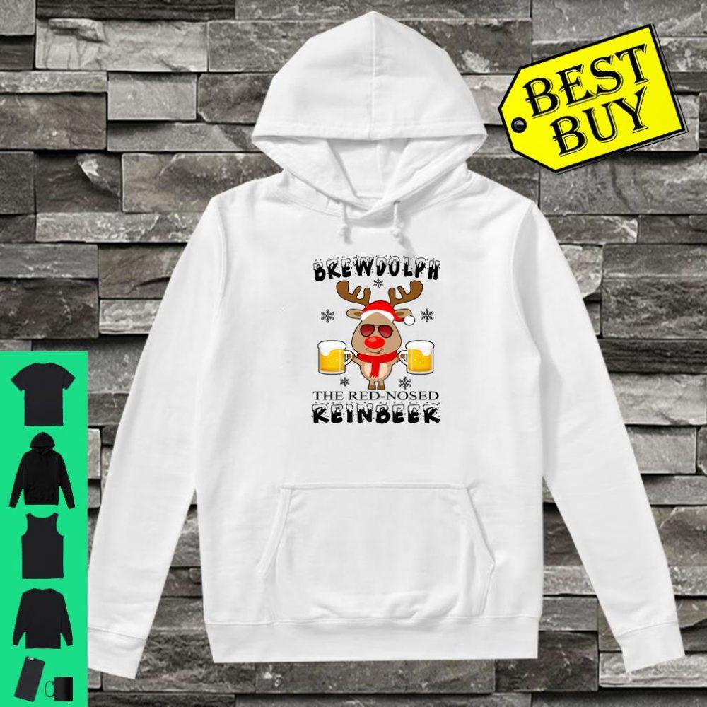 Brewdolph The Red Nosed Reinbeer Christmas Reindeer Beer shirt hoodie