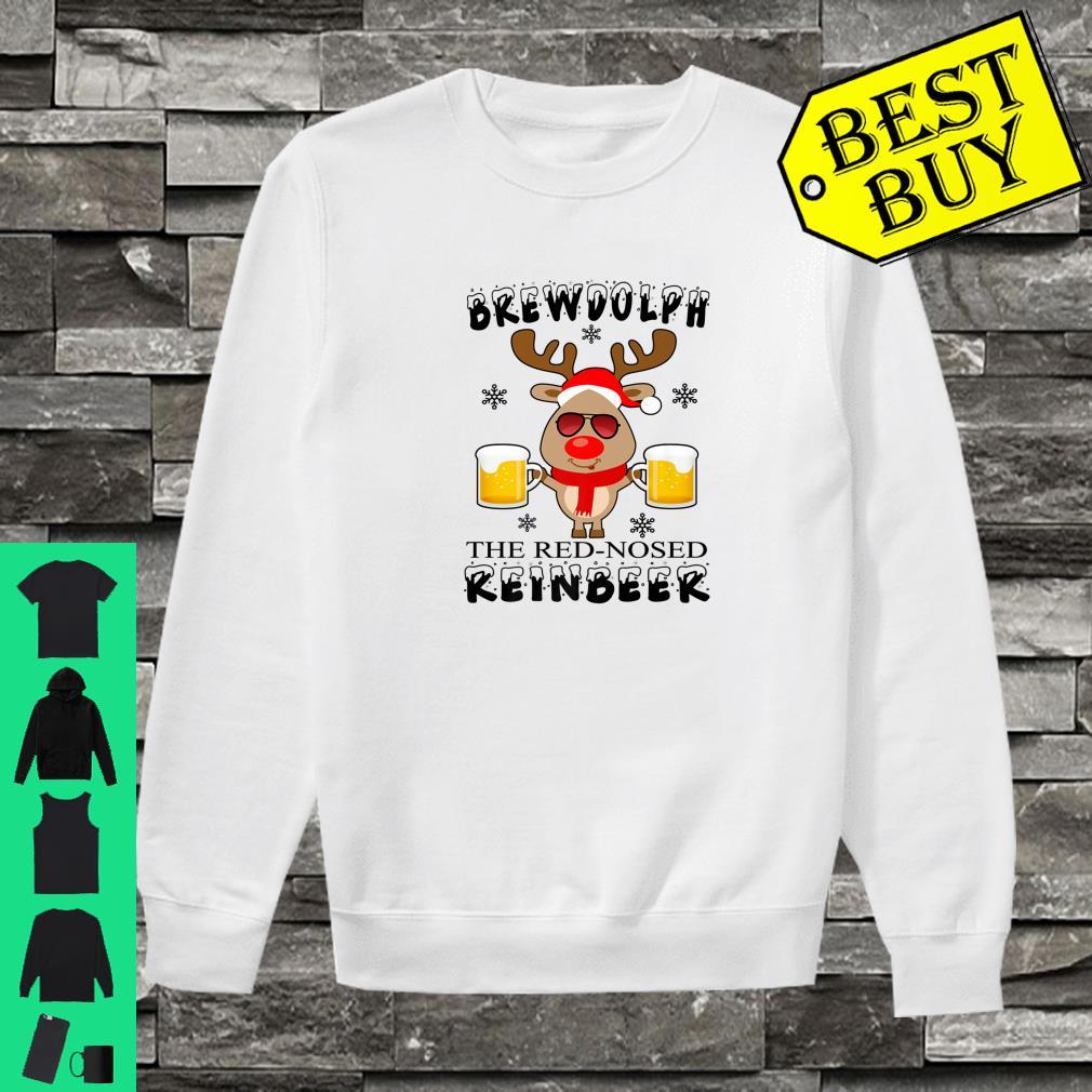 Brewdolph The Red Nosed Reinbeer Christmas Reindeer Beer shirt sweater