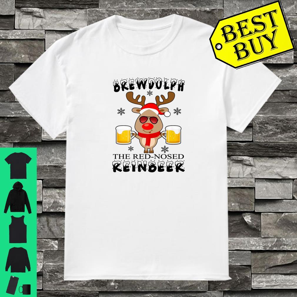 Brewdolph The Red Nosed Reinbeer Christmas Reindeer Beer shirt