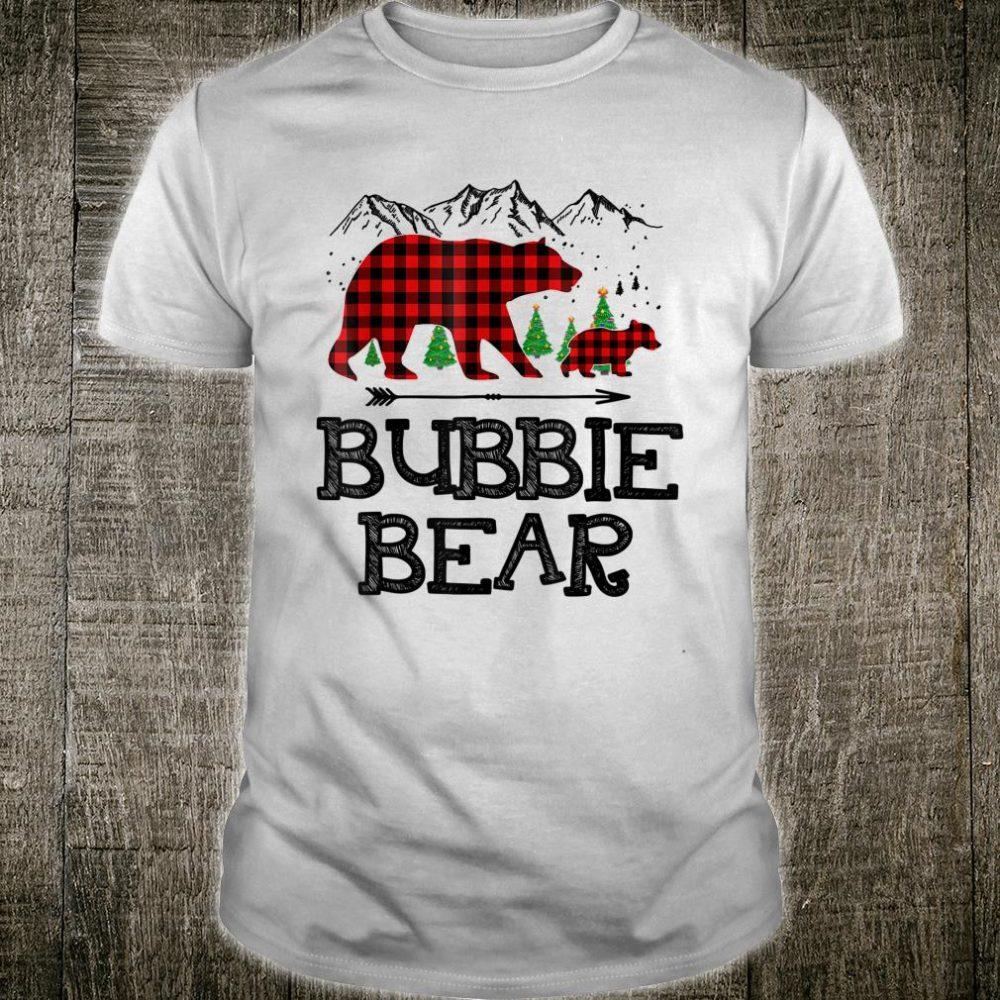 Bubbie Bear Christmas Pajama Red Plaid Buffalo Family Gift shirt