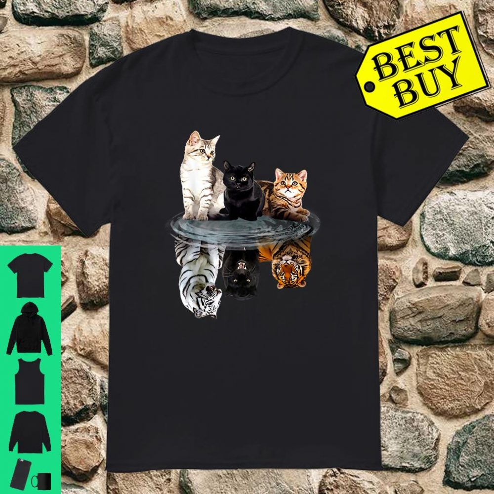 Cat Panther Mirror Reflection Dream Animal shirt