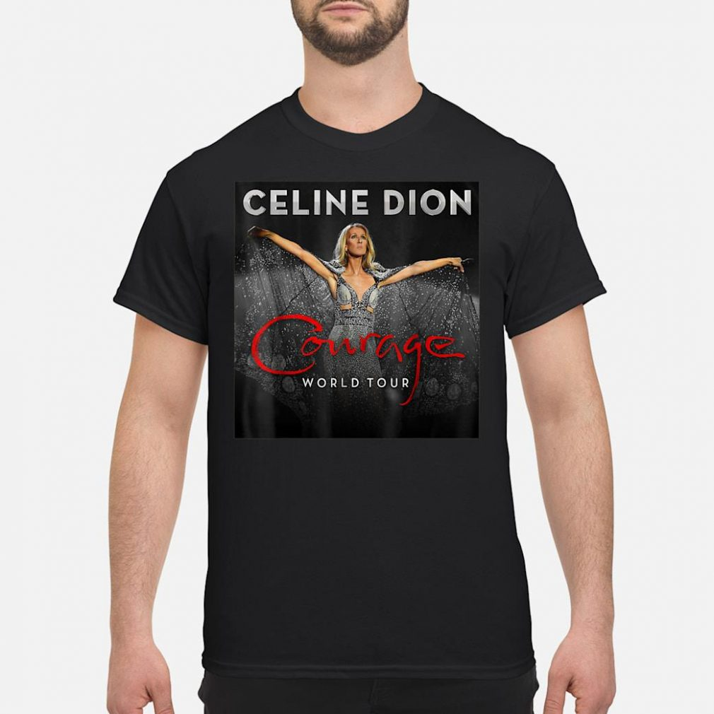 Celine Dion courage world tour shirt
