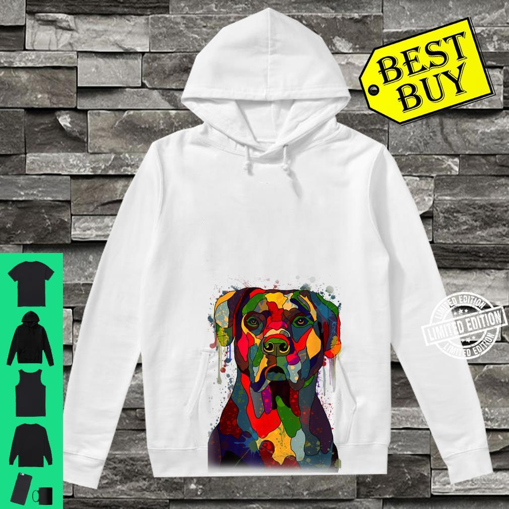 Colorful Cane Corso Hand Drawn Dog Owner Painting Shirt hoodie