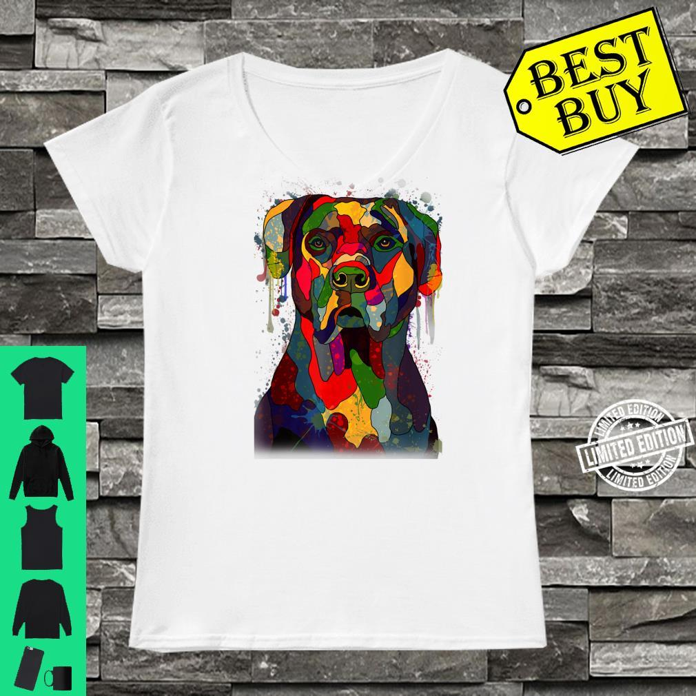 Colorful Cane Corso Hand Drawn Dog Owner Painting Shirt ladies tee