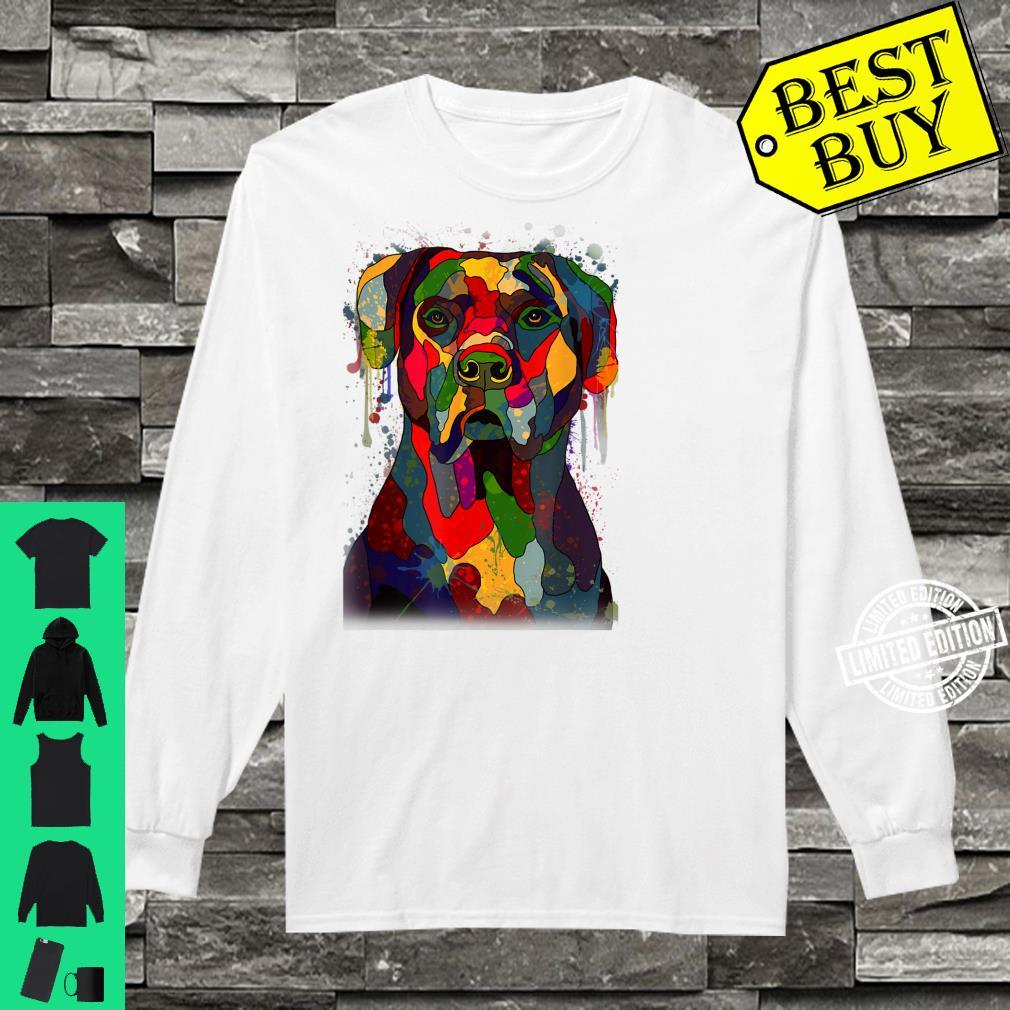 Colorful Cane Corso Hand Drawn Dog Owner Painting Shirt long sleeved