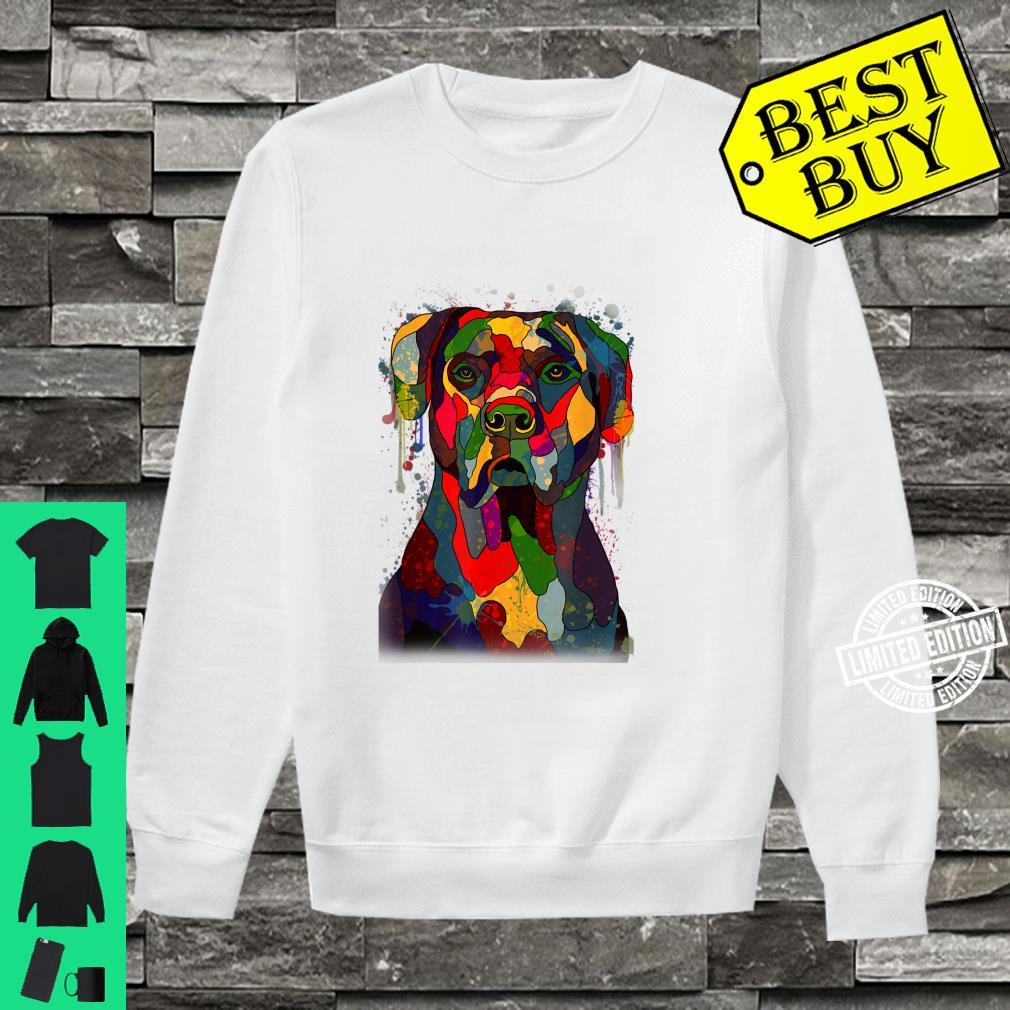 Colorful Cane Corso Hand Drawn Dog Owner Painting Shirt sweater