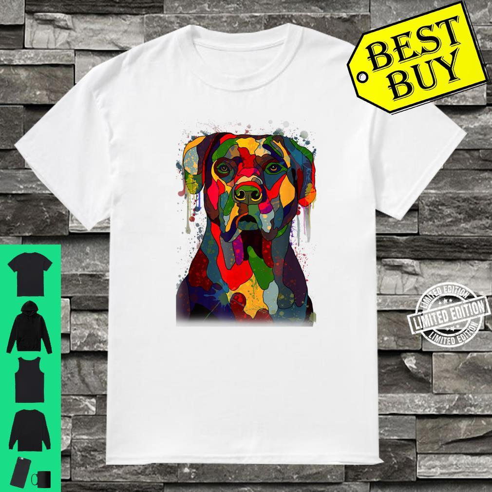 Colorful Cane Corso Hand Drawn Dog Owner Painting Shirt
